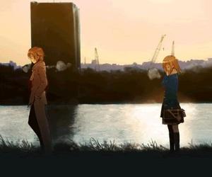 anime, anime girl, and scenery image
