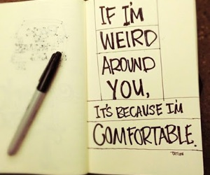weird, quotes, and comfortable image