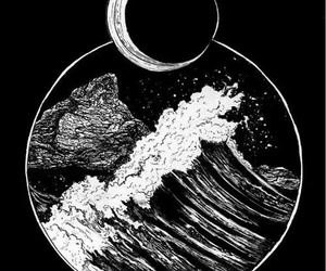 draw, moon, and art image