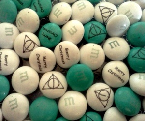 chocolate, deathly hallows, and harry potter image