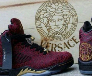 Versace, shoes, and jordan image