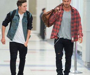 dad, David Beckham, and son image
