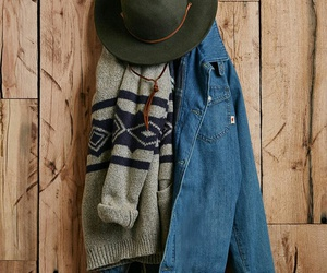 outfit, denim, and hat image