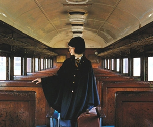 Collage, fashion, and train image