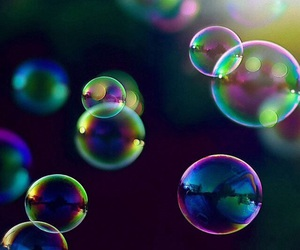 bubbles, wallpaper, and colors image