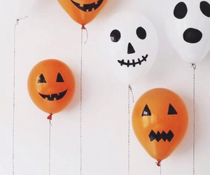 Halloween, balloons, and fall image