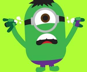 minions, Hulk, and green image