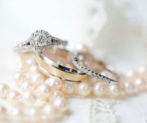 pearls, rings, and love image