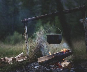 nature, fire, and camp image