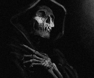 art, grim reaper, and black and white image