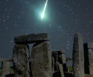 stars, stonehenge, and night image