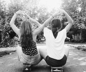 best friends, forever, and skatebard image