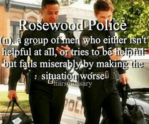 police, rosewood, and pll image