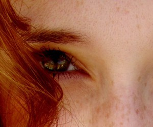 freckles, green eyes, and summer image