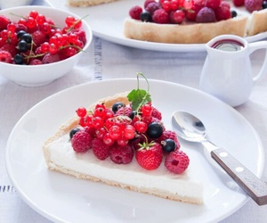 cake, food, and berries image