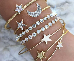 stars, bracelet, and accessories image