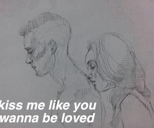 kiss me, drawing, and kiss image