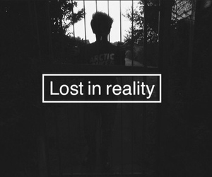 lost, reality, and dark image