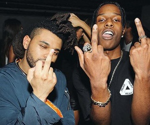 the weeknd, asap rocky, and rapper image