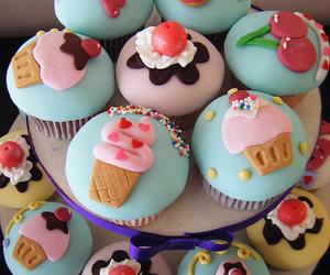 cupcake, cute, and ice cream image