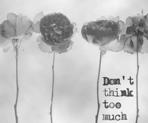 flowers, quote, and think image
