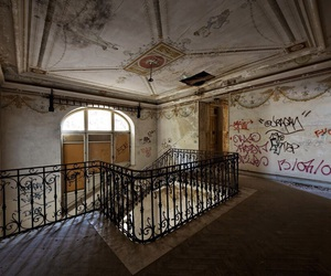abandoned, architecture, and castle image