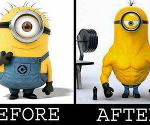 minions, funny, and gym image