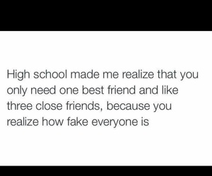 highschool, quote, and tumblr image