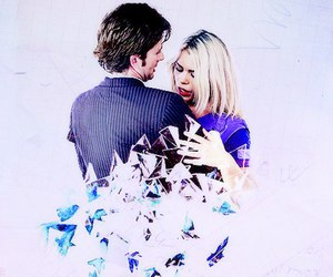 doctor who, rose tyler, and huggs image