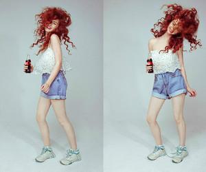 reebok sneakers, bershka top, and stylemoi shorts image