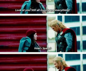 thor, Marvel, and space image