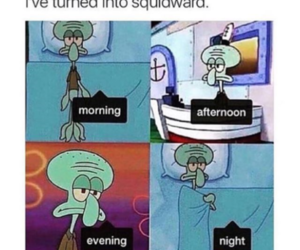 funny, squidward, and lol image