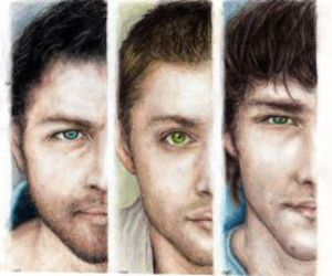 dean, eyes, and jared image