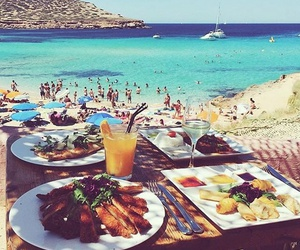 food, summer, and beach image