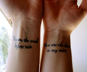 tattoo, quote, and wrist image