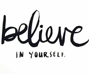 positive and believe image