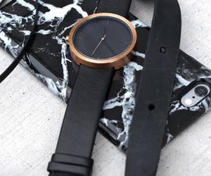 black, clock, and fashion image