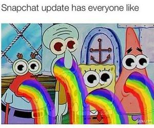 rainbow, bob esponja, and spongebob image