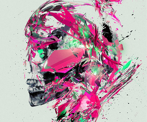 skull and painting image