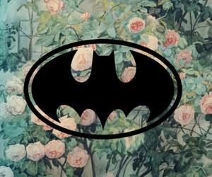 batman, flowers, and tumblr image