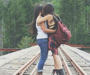 gay, kiss, and girl image