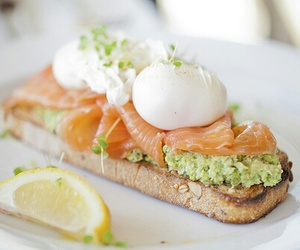 food, delicious, and salmon image