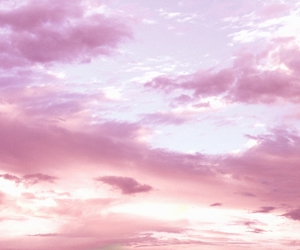 clouds, day, and pink image