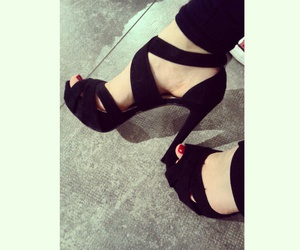 black, heaven, and shoes image