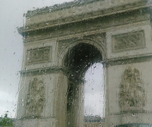 grunge, paris, and rain image
