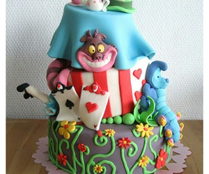 cake, alice in wonderland, and alice image