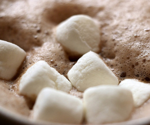 marshmallow, hot ​chocolate, and drink image