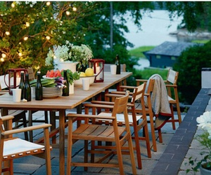 balcony, chairs, and table image