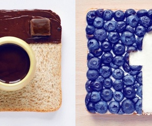 facebook, blueberry, and food image