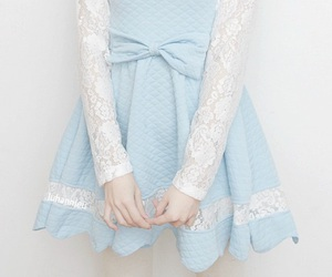 bows, doll, and baby blue image